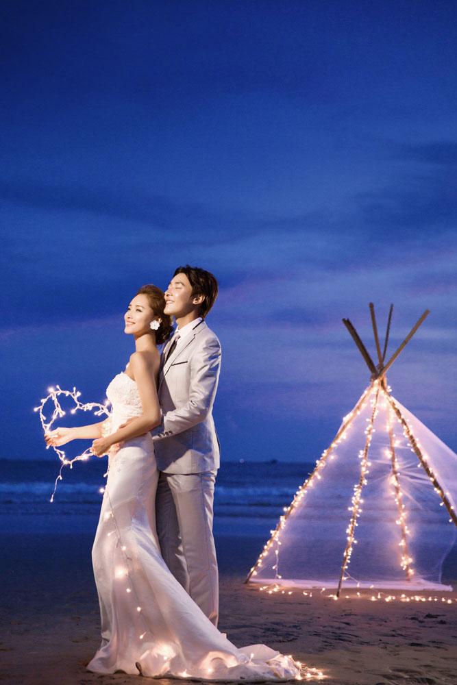 908-婚纱夜景海景