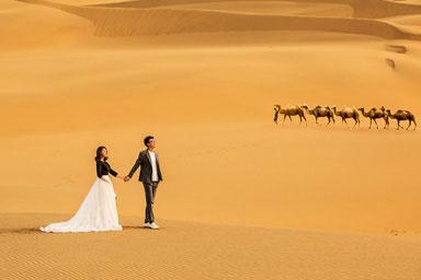 沙漠(骆驼)&新疆婚纱照&乌鲁木齐婚纱照